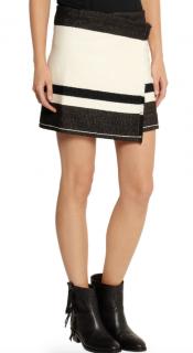 Isabel Marant Beige Adelaide Wool-Blend Wrap Skirt