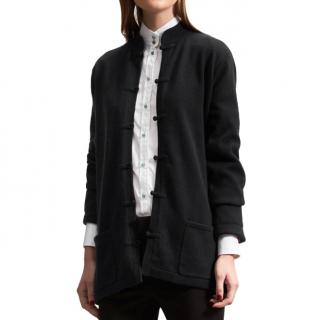 Shanghai Tang Cashmere Cardigan with Silk Lining