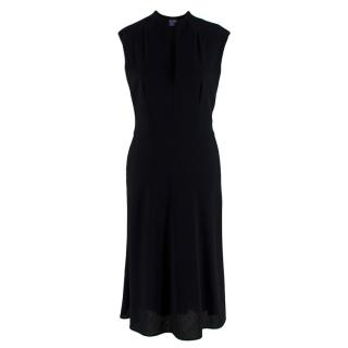 Ralph Lauren Collection Black Wool Sleeveless Midi Dress