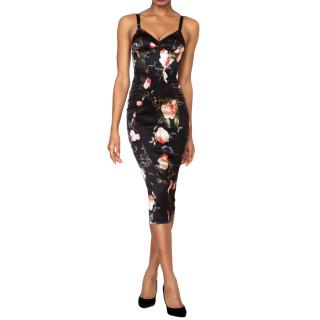 Agent Provocateur Elora Floral Print Midi Dress