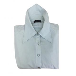 Joseph High Collar Pale Green Blouse