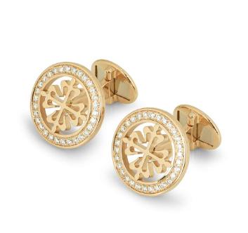 Patek Philippe Gold Diamond Set Cufflinks