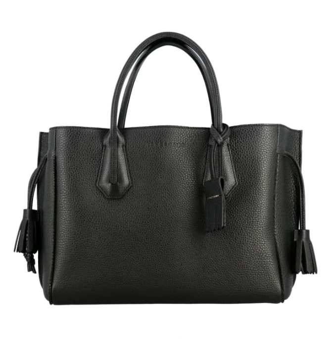 Longchamp Black Leather Penelope Tote Bag