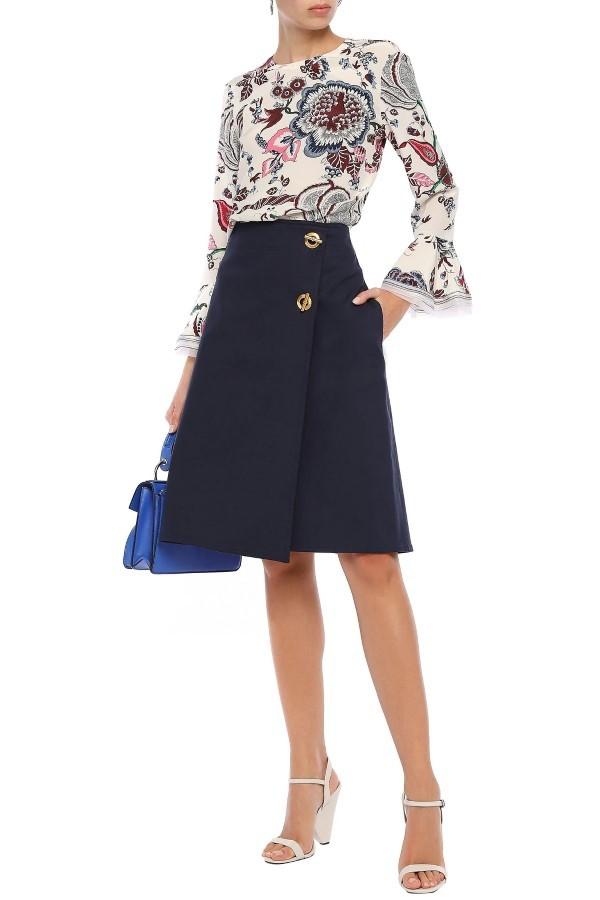 Tory Burch Ruth Satin Twill Skirt