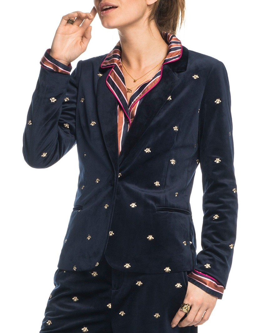 Maison Scotch Clubhouse Royals Navy Embroidered Jacket