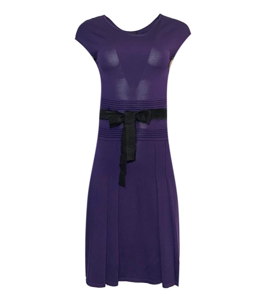 CH Carolina Herrera Purple Knit Dress