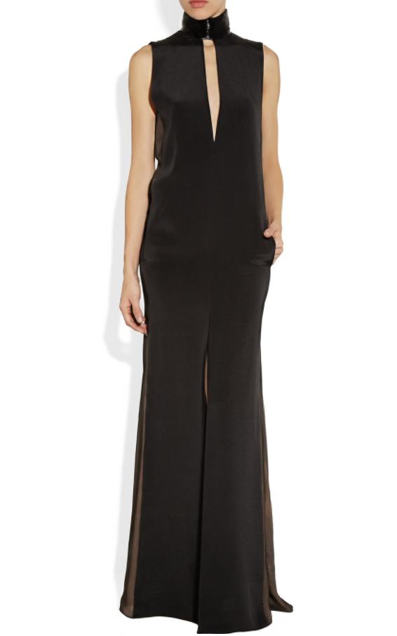 Emilio Pucci Black Silk blend High Neck Beaded Gown