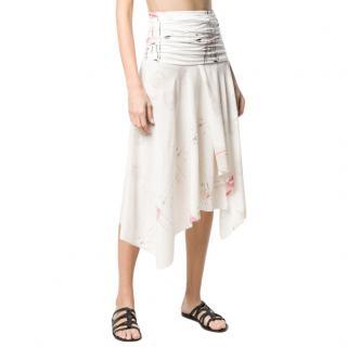Loewe x Charles Rennie Mackintosh Rose Print Midi Skirt
