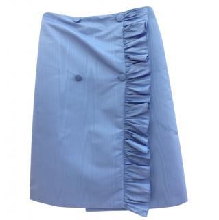 MSGM Button Detail Ruffle Mini Skirt