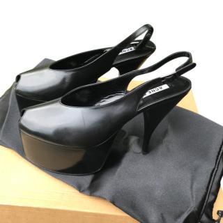 Acne Studios Black Platform Slingback Sandals