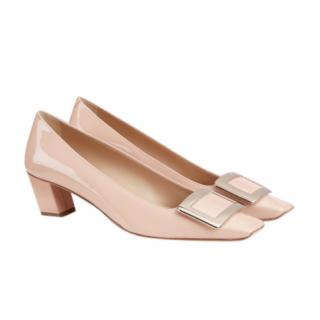 Roger Vivier Pink Belle Vivier patent-leather pumps