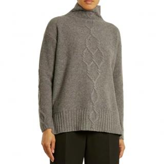 Max Mara Navate Grey Wool & Cashmere Jumper