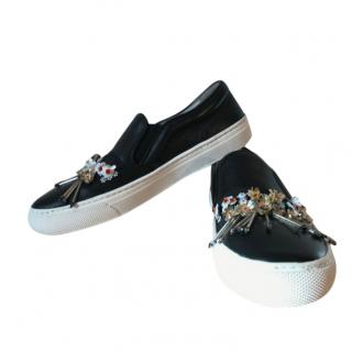 Markus Lupfer Black Embellished Slip-On Sneakers