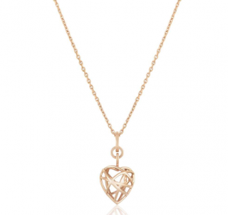 Chopard Rose Gold Heart Pendant Necklace