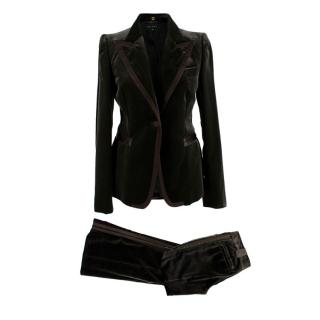Gucci Green Velvet Two Piece Suit