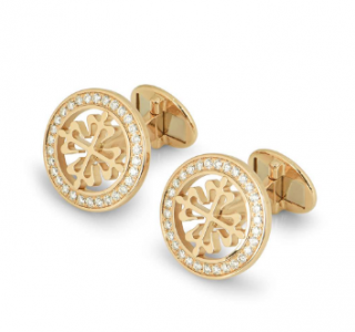 Patek Philippe Gold Diamond Set Cufflinks