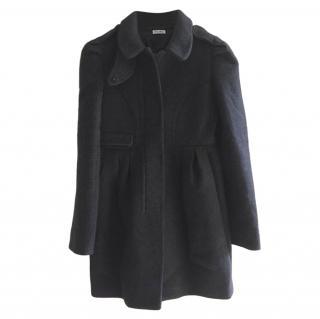 Miu Miu Charcoal Wool Coat