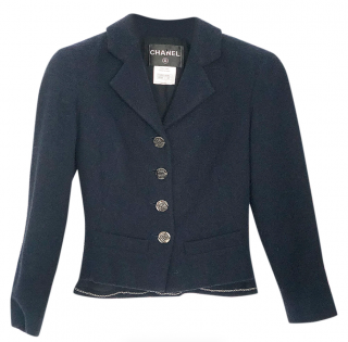 Chanel Navy Wool Classic Jacket