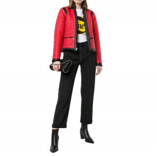 Chanel Red & Black Reversible Puffer Jacket