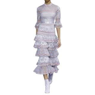 Temperley London Pirate Sleeve Ruffled Midi Dress