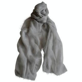 Ralph Lauren Collection Cashmere Pale Grey Scarf