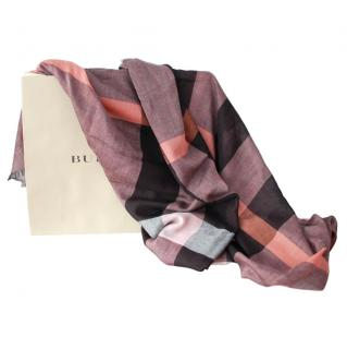 Burberry Tonal Plaid Shawl