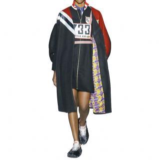 Stella Jean Striped Runway Wool Blend Coat