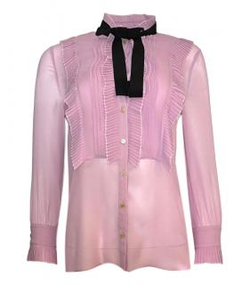Gucci Pink Silk Pussybow Blouse