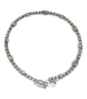 Bespoke 18kt White Gold Diamond Tennis Bracelet