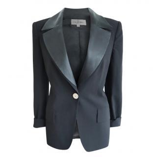 Valentino Miss V Black Vintage Tuxedo Jacket