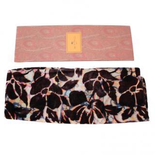 Etro paisley print reversible silk blend scarf