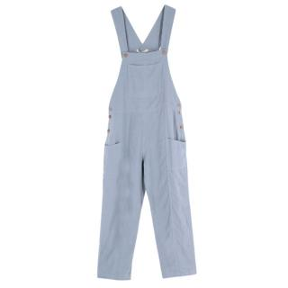 Kara Thoms Blue Linen Beatrix Overalls