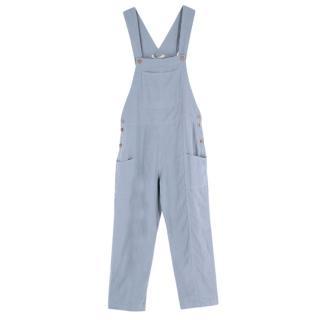 Kara Thoms Blue Linen Beatrix Overalls
