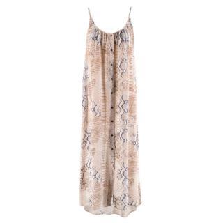 Melissa Odabash Snake Print Silk-Chiffon Dress