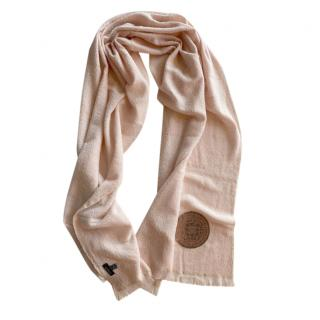 Chanel Pink Gabrielle Agence Cashmere & Silk Stole