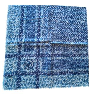 Chanel Blue/White CC Cashmere Shawl