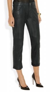 Current/Elliott Leather The Boyfriend Jeans