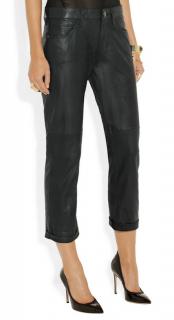 Current/Elliott Leather The Boyfriend Jeans