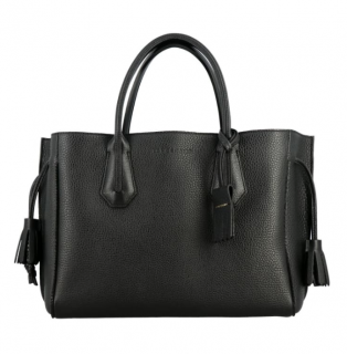 Longchamp Black Leather Penelope Tote Bag