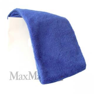 Max Mara Blue Camel Teddy Shawl