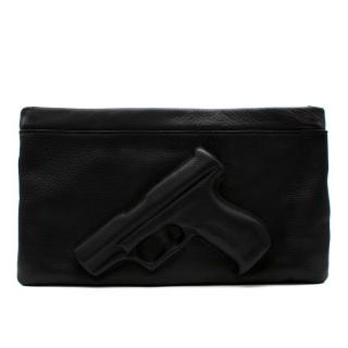Vlieger & Vandam Black Leather Gun Feature Clutch