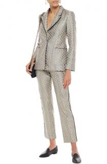 Maje Vane Metallic Jacquard Suit