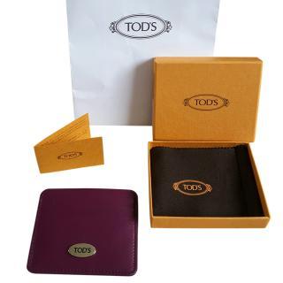 Tod's Plum Calf leather Cardholder