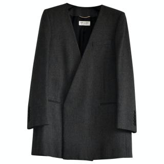Saint Laurent Wool Tailored Longline Jacket