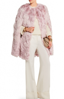 Giambattista Valli Blush Pink Alpaca Fur Cape