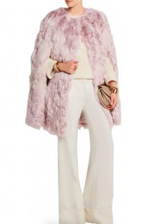 Giambattista Valli Blush Pink Alpaca Fur Cape