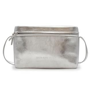 Calvin Klein 205W39NYC Silver leather Binocular Shoulder Bag