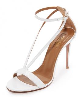 Aquazurra Casanova White Sandals