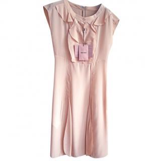Miu Miu Pink Crepe De Chine Dress