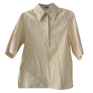 Joseph Yellow & White Striped Shirt